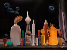 Fiona Pardington: Still Life with Plastic Syringes, Bottles and Bubbles, Ripiro 2014 Interior Photography, Artistic Photography, Art Photography, Art For Change, Still Life Photographers, Still Life Photos, Vanitas, Environmental Art, Teaching Art