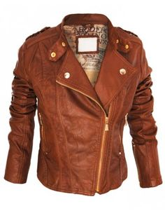 Brown Faux Leather Jacket <3 like