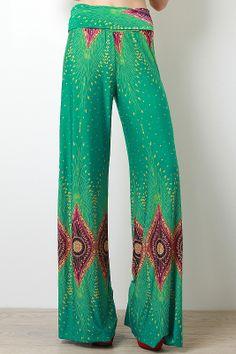 Bohemian Peacock Pants