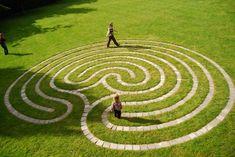 Walking Meditation, Meditation Garden, Meditation Quotes, Meditation Music, Labyrinth Walk, Labrynth, Greek And Roman Mythology, Land Art, Garden Design