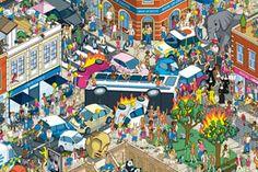 Rod Hunt es un artista galardonado londinense de Illustrator que ha construido una reputación de crear ilustraciones de paisajes increíblemente detallados con matices retro. Con clientes internacionales que abarcan diferentes tipos de diseño y publicidad, ha ilustrado todo tipo de cosas. Desde portadas de libro, campañas publicitarias, mapas de parques de diversiones, ¡hasta aplicaciones para Iphone!