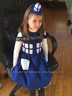 Coolest Homemade Tardis Costume for a 6 Year Old... Coolest Halloween Costume Contest