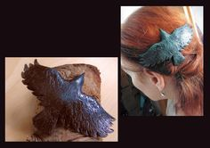 https://flic.kr/p/Rhc2o7 | Raven Haircomb (polymer Clay)