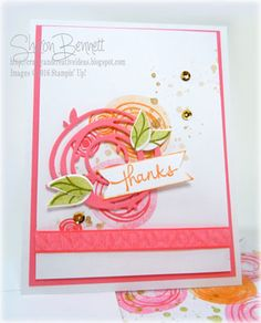 Crafty and Creative Ideas: SU-Swirly Bird and Swirly Scribbles.  (Pin#1: Flowers: SU-3D/ Dies.  Pin+: Thanks).