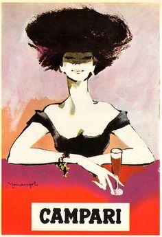 Woman. Vintage Campari poster