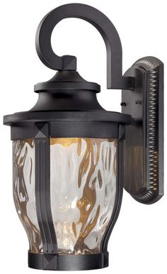 """View the The Great Outdoors 8763-66-L 1 Light 20"""" Height LED Outdoor Wall Sconce from the Merrimack Collection at LightingDirect.com."""