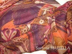 sciarpa da donna in Georgette di misto seta