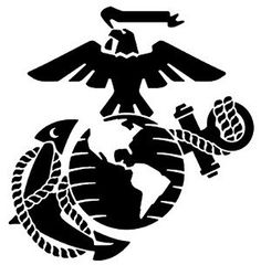Marines Logo Decal MILITARY  High Quality Vinyl  by KcustomDesign, $4.00