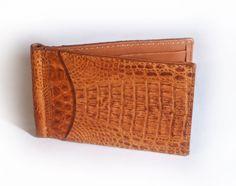 Genuine Crocodile Bi-Fold Money Clip | Hidden House Products