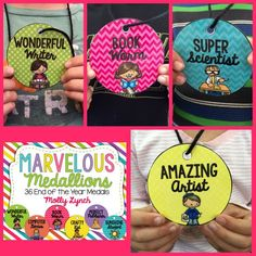 This pack of 36 medals is easy to prep! Simply print, laminate, punch a hole and string some yarn through it! As I was prepping these this week, I could hear the buzz spreading around the room! | by Lucky to Be in First by Molly Lynch