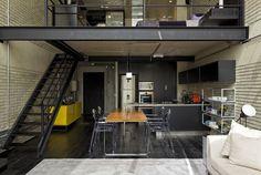 I love lofts! Industrial loft by Diego Revollo.