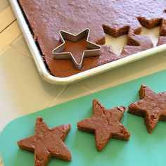 Cookie cutter brownies. Fun for the kids!