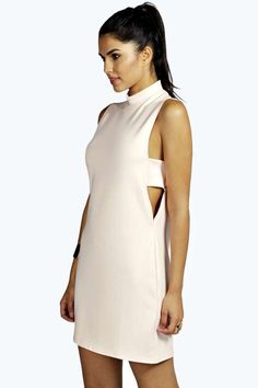 Kat Cut Away Side Shift Mini Dress #ivory #white #cutout #dress #mini #fashion #chic #future #fashion