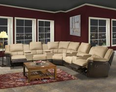 Home Theater Motion Upholstery Series 9 Piece Reclining Sectional Sofa by Emerald