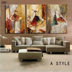 Ballet Dancers Hand painted Modern Abstract Oil Painting On Canvas Wall Art Gift Home cuadros decoracion 3 pieces pictures. Category: Home & Garden. Subcategory: Home Decor. Painting Studio, Oil Painting Abstract, Texture Painting, Hand Painting Art, China Painting, Oil Paintings, Home Decor Pictures, Wall Art Pictures, Canvas Pictures