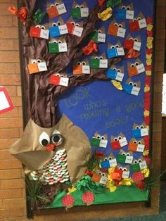 Back To School Owl Bulletin Board