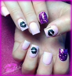 Nails too girly but love the colors