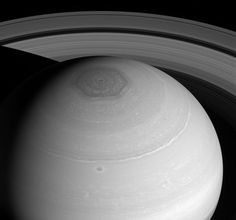Saturn's North Pole Hexagon