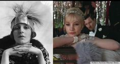 comparing Gatsby trailer fashions to real vintage photos