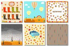 Autumn set of patterns #1 by Orangepencil on @creativemarket
