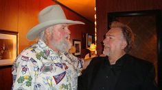 Charlie Daniels and Gene Watson backstage at the Grand Ole Opry