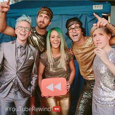 Youtube Rewind, 2014, TylerOakley, with Rhett, Link, JennaMarbles, and Hannah Hart. ♡