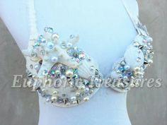 Adult Little Mermaid Costume   Custom Costume  Beautiful mermaid top with Led lights #whitewonderland ready