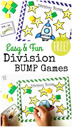 4 Worksheet Free Math Worksheets Fifth Grade 5 Multiplication Division Long Division Digit No Remainder FREE Simple Printable Division Games 1 2 Digit Divisors Long Division Activities, Teaching Division, Division Math Games, Multiplication And Division, Long Division Game, Teaching Math, Teaching Tips, Easy Math Games, Printable Math Games