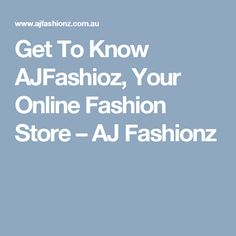 Beautiful and trendy clothes awaits your kids and teens here ate AJ Fashionz; Visit us online today! Online Fashion Stores, Getting To Know, Trendy Outfits, Clothes, Fashion Clothes, Outfits, Clothing, Kleding, Outfit Posts