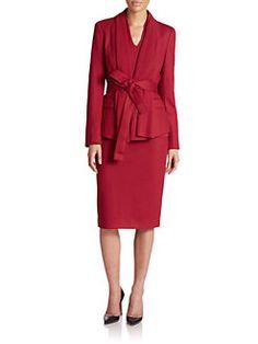 Escada - Wool & Cashmere Draped Jacket