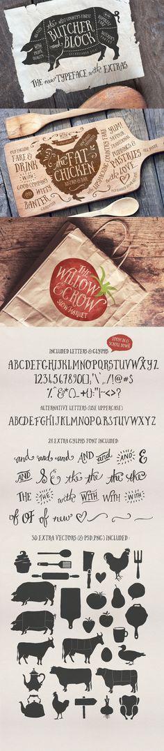 The Inspirational Creative Font Collection (Includes Web Fonts) - Design Cuts Layout Design, Design Art, Print Design, Typography Fonts, Typography Design, Graphic Design Branding, Packaging Design, Cookbook Design, Website Design