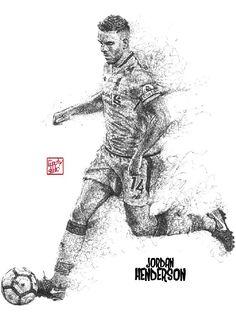 Captain Jordan Henderson : Liverpool player : Liverpool FC : black pen drawing Illustration #Liverpool #TheKopArtsStudio #liverpoolfc #football #thisisanfield #lfc #lovelfc #ynwa #picoftheday #matchday #art #drawing #Illustration