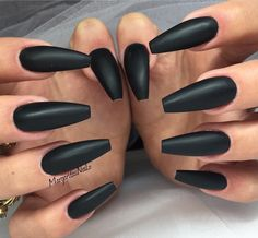 Coffin nails = nails that are long AF and shaped like, ya know, COFFINS.