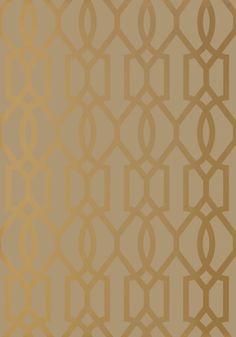 I love this wallpaper! Downing Gate Thibaut wallpaper - Metallic Gold on Bark, www.eadeswallpaper.com