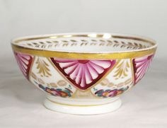 Antique Very Early Gardner Russian hand painted Porcelain Bowl