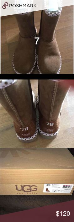 f7e9e33cdc UGG CLASSIC SHORT ANNIVERSARY EDITION BOOTS Brand new in box. Size 7.  Chestnut with