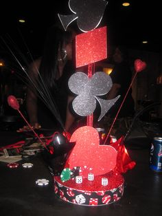 Las Vegas Themed centerpiece