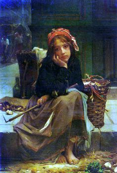 "Guillaume Charles Brun, ""The Young Rag-Gatherer"""