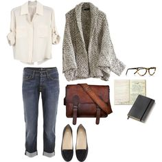 Untitled #453 by the59thstreetbridge on Polyvore featuring Chelsea Flower, 7 For All Mankind, H&M, Selima Optique and Moleskine