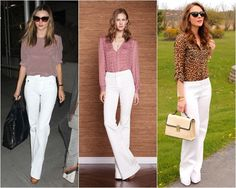 calça branca + camisa