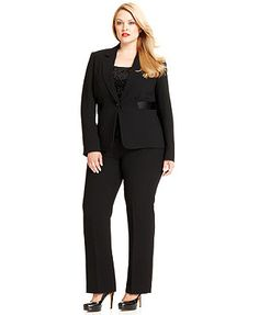Tahari by ASL Plus Size Suit, Jacket, Camisole & Trousers $179.99 Macy's