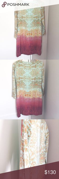 100% Silk Anthropologie Printed Dress In Great Condition/ Stock Photo Courtesy of Anthropologie Anthropologie Dresses Mini