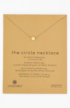 'Reminder - The Circle' Pendant Necklace