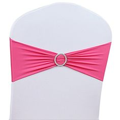 SHZONS50PCsPack Stretch Chair Cover Band With Buckle Slider Replace Chair Sash BowGreat Decor for Party BanquetHotpink * Home decor details can be found by clicking on the image.