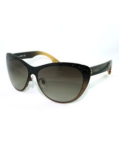 Take a look at this Bronze Sparkle Cat-Eye Sunglasses - Women by Diesel