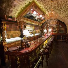 Black Angels / Prague / Czech Republic Black Angel's Bar and its menu have been created based on the preserved notes and sketches of the… Prague Bars, Prague Food, Prague Things To Do, Prague Restaurants, Prague Nightlife, Prague Hotels, Restaurant Hotel, Visit Prague, Mall Of America
