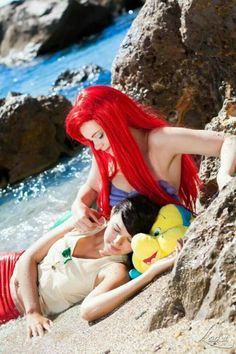 Ariel and Melody cosplay