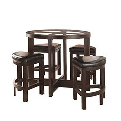 Awesome Aberdeen Rubberwood 5 Piece Counter Height Dining Set With Faux Leather  Seats    Continue