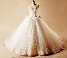 New white/ivory wedding dress bridal gown custom size 2 4 6 8 10 12 14 16 18+ - BUY NOW ONLY 107.0