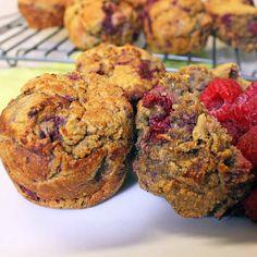 Healthy Raspberry Pumpkin Muffins